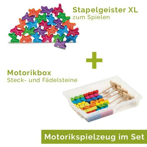 Aktions-Set Geschick XL - Stapelgeister XL & Motorikbox